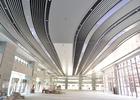 Indoor Decoration Aluminum Suspended Strip Ceiling Panel Beveled Edge Eco-friendly