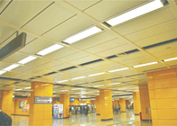 Suspended Acoustic Ceiling Tiles , Aluminum Expanded Metal Ceiling for Public Place