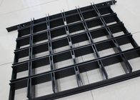 Metal Grille Ceiling Commercial Ceiling Tiles Panel , install With Black 14 T-grid