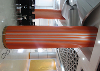 Decoration U-Aluminium Profile Screen Ceiling , Wood Like Aluminum Square Tube Ceiling