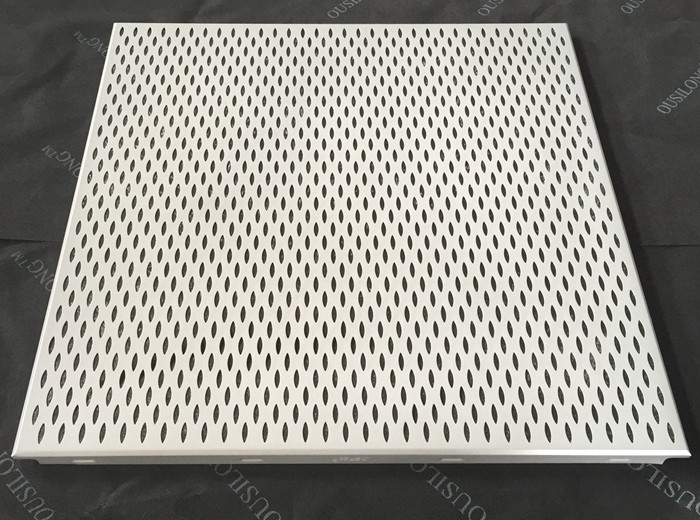 Leaf Shaped Fireproof Clip In Ceiling Perforated Aluminum Acoustic False Ceiling
