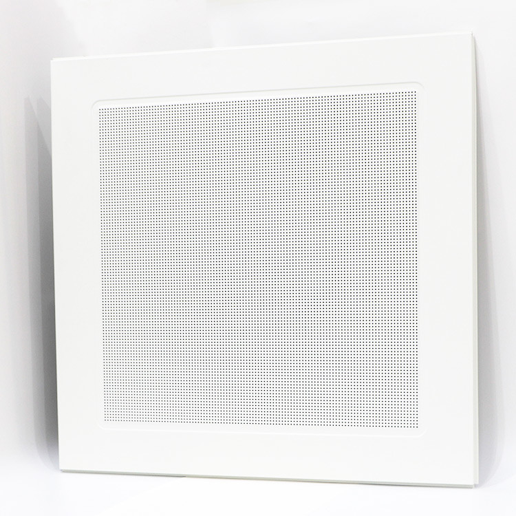 Perforated Metal Lay In Ceiling Tiles White Aluminum Suspended 800mm*800mm