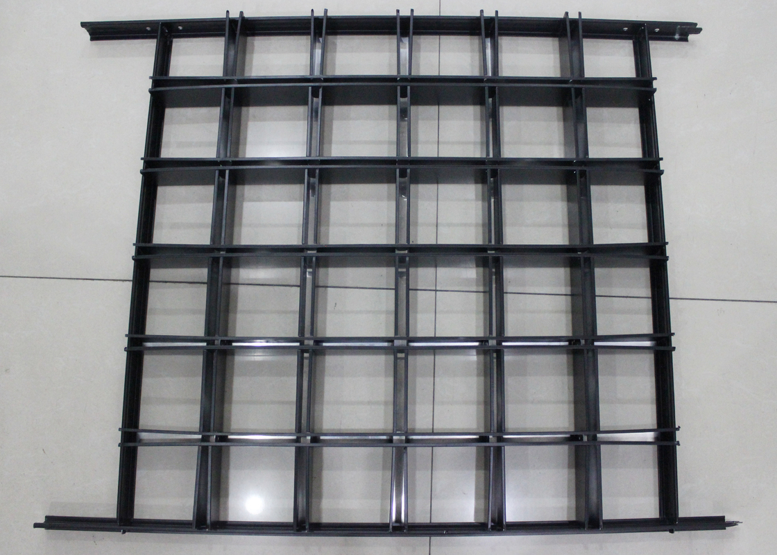 Install with Black T bar Frame Metal Aluminum grid ceiling 600 x  600 Lattice