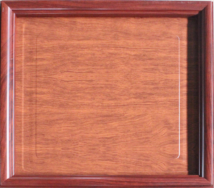 Non-Flammable Artistic Ceiling Tiles Wood Grain Color Wooden Frame