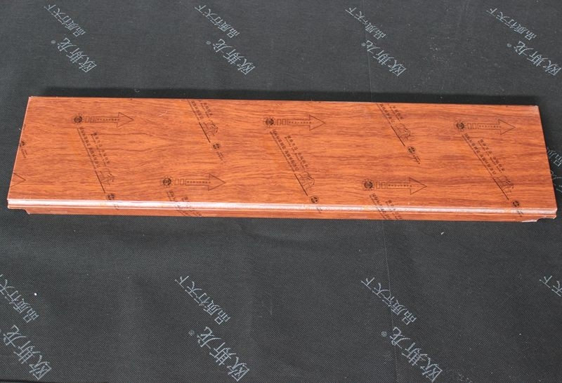 Fireproof Decorative Wood Ceiling Panels Aluminum Alloy Roller Coating