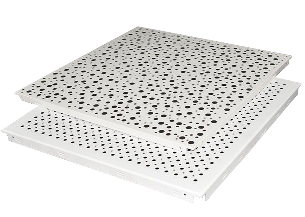 Waterproof White Clip In Ceiling Tiles Perforated Metal Ceiling Tiles For Office